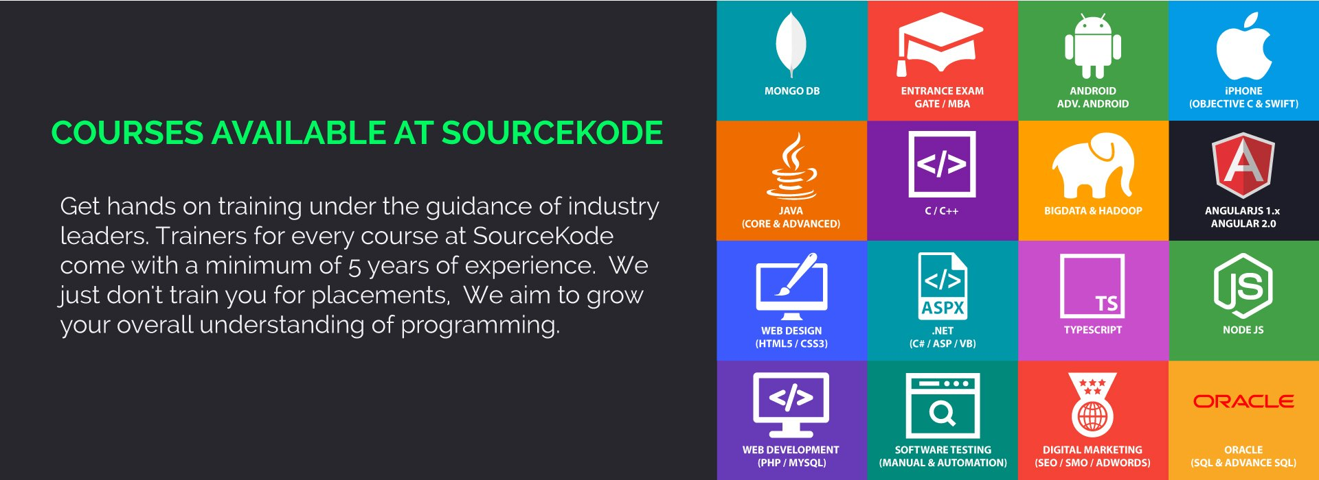 Courses at SourceKode